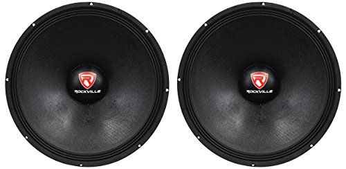 2 Rockville RVP18W8 2400w 18'' Pro Subwoofers 8-Ohm Raw Sub Woofers 90 Oz Magnets by Rockville