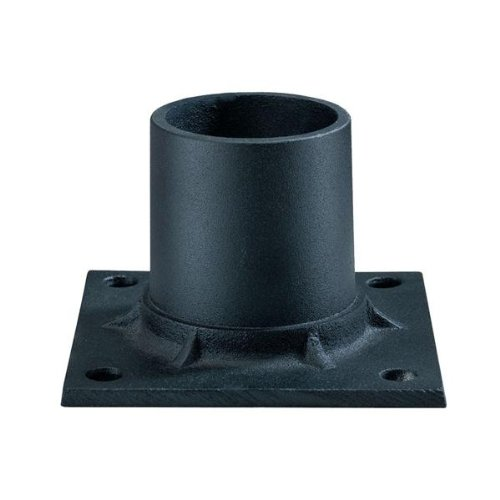 Post Mount Adapter Mounting Pier - Acclaim C347BK Lamp Posts Accessories Collection Pier Mount Adapter Accessory, Matte Black