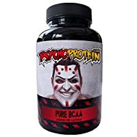 Psycho's High-Strength BCAA (Branched Chain Amino Acid) Capsules - Pure Dose - Bottle of 90 Tablets (600mg PER Capsule)