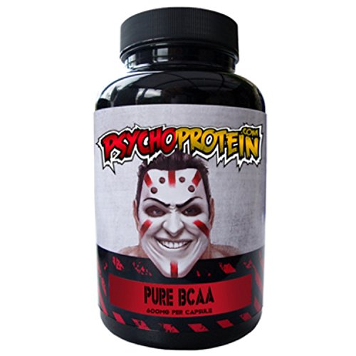 Psycho's High-Strength BCAA (Branched Chain Amino Acid) Capsules - Pure...