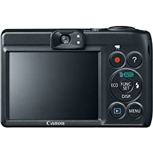 Canon PowerShot A1400 16.0 MP Digital Camera with 5x Digital Image Stabilized Zoom 28mm Wide-Angle Lens and 720p HD Video Recording (Black) (OLD MODEL) from Canon