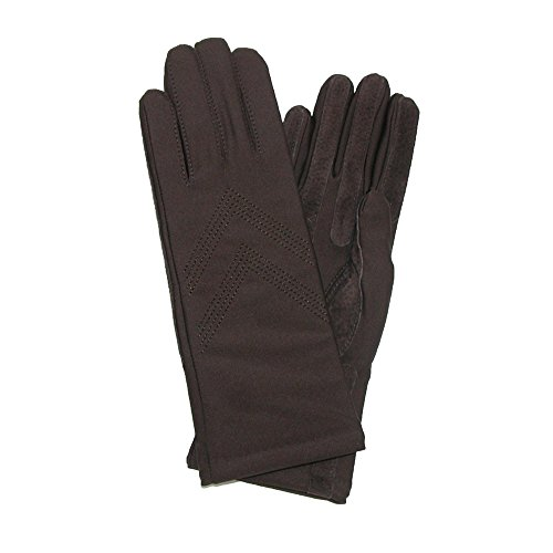 Isotoner Womens Knit Lined Spandex Winter Glove, Brown