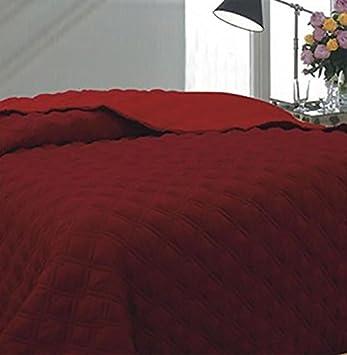 couvre lit marque italienne Couvre lit Lit Housse De Couette Réversible 2 couleurs rouge King  couvre lit marque italienne