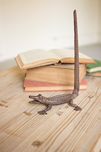 Cast Iron Alligator Paper Towel Holder, 5