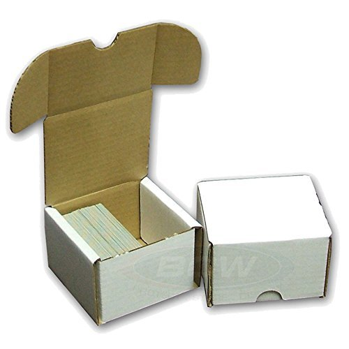 BCW STORAGE BOX 10 COUNT- Fits 200 Cards Per Box - Corrugated Cardboard Storage Box - Baseball, Football, Basketball, Hockey, Nascar, Sportscards, Gaming, Sports & Trading Cards Collecting Supplies ()