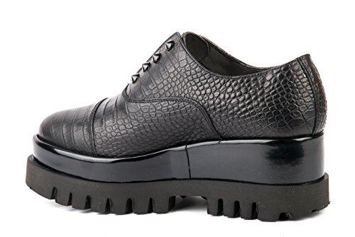 CULT scarpe SLIP ON DONNA CLE102603 CROCO LEATHER BLACK AI17