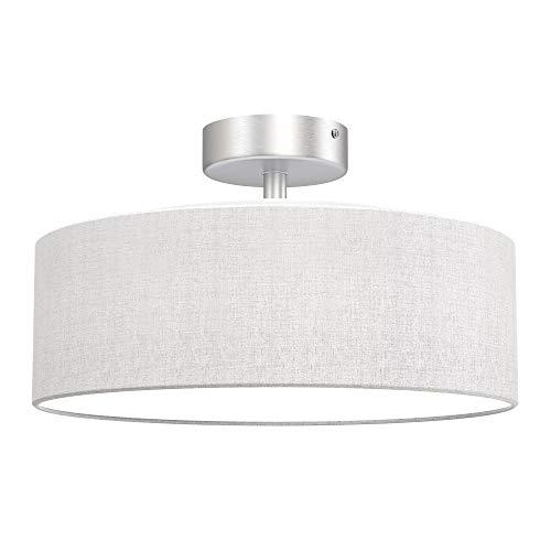 Briloner Leuchten - lámpara de techo, 1 x E27 máx. 40 vatios, pantalla de tela, color: blanco satinado, diámetro de 30 cm a buen precio