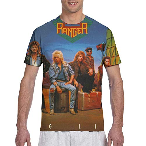 Night Ranger Big Lifer Mens 3D Printed Short Sleeve Top T-Shirts XL Black ()
