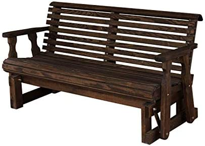 CAF Amish Heavy Duty 800 Lb Roll Back - Reliable and Heavy-Duty Outdoor Glider Bench