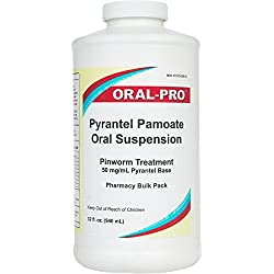 Aurora 50Mg/Ml Oral Pro Pyrantel Pamoate Oral Suspension, 32 Ounce, White