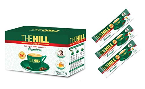 The Hill Instant Coffee Packets with Vital Proteins Collagen Creamer and Honey. Rich Aromatic Vietnamese Coffee for Women with Vital Protein Collagen Creamer. 1 Box of 15 Coffee with Creamer Packets