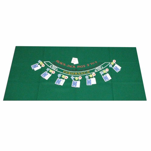 Trademark Poker Blackjack Layout, 36 x 72 (Blackjack Felt)