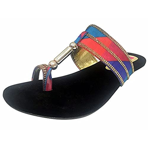 Step n Style Women Leather Shoes Khussa Shoes Indian Shoes Salwar Kameej Flat Shoes