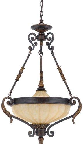 Triarch 32762-23 3 Light Venus Bowl Large Pendant, English - Pendant Triarch Bronze