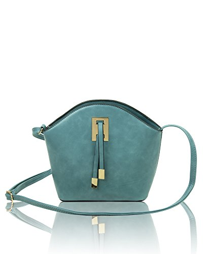 Bag With Tie x Small Classic Redfox Detail Turquoise 5cm Ribbon Women's 19 Chic Shoulder x 23cm 8cm S8XwYqw