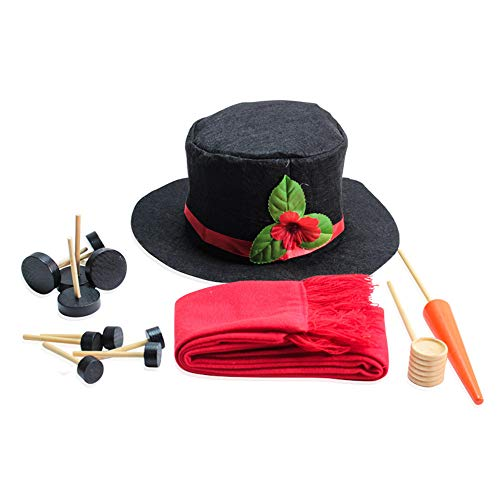️ Yu2d ❤️❤️ ️Red Snowman Dressed Up Kit Winter Tools Outdoor Games Christmas Home -
