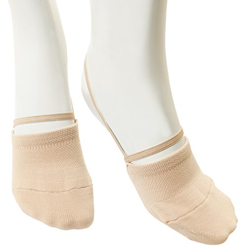 Annie Dance Rhythmic Gymnastics Soft Half Socks Knitted Sole Shoes Women (Small)
