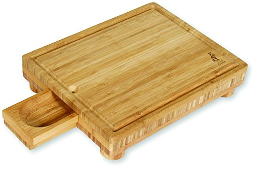 Island Bamboo GS15 Solana Cutting Board with Gravy Server, 15-Inch by 12-Inch