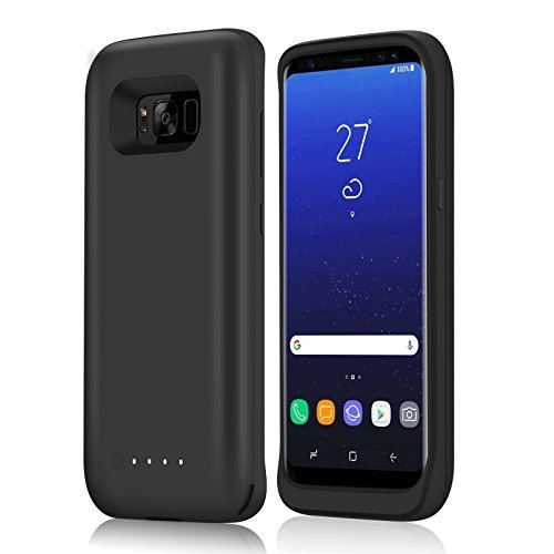 Galaxy S8 Battery Case, YISHDA 5000mAh Ultra-Slim Rechargeable External Extended Battery moveable Charger Protective Charging circumstance drink Pack strength Bank Cover for Samsung Galaxy S8 (2017)-Black