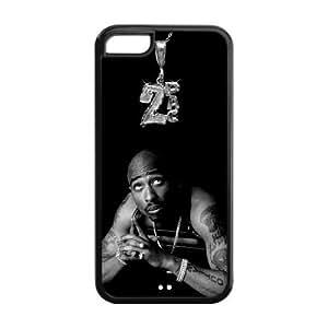 2Pac iPhone 5C Case Rap Singer 2Pac Black Case Cover hjbrhga1544