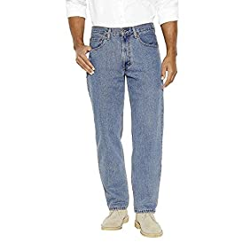 Levi's Men's 550 Relaxed Fit Jean, Light Stonewash, 30x36