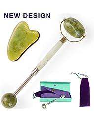 Jade Roller & Gua Sha - NEW Design Jade Roller For Face...