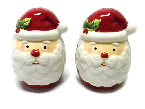 Ceramic Santa Claus Salt and Pepper Set