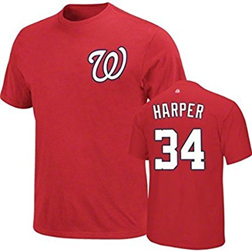VF Washington Nationals MLB Mens Bryce Harper Player Shirt Red Big & Tall Sizes (2XT) (Nationals Player Washington)