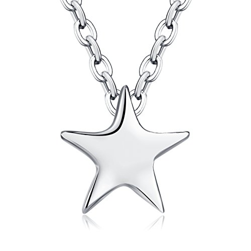 Rosa Vila Tiny Star Necklace, You are My North Star, Reach for The Stars Necklace, Dainty Star Pendants for Women, Dainty and Simple Necklace (Silver Tone), Mother's Day]()