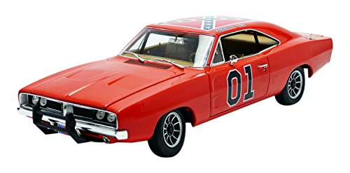 The Dukes Of Hazzard General Lee 1969 Dodge Charger 1:18 Die-cast - 1969 Dodge Lee Charger General