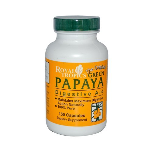 Green Papaya Digestive Enzymes Royal Tropics 150 Caps Digestive Greens