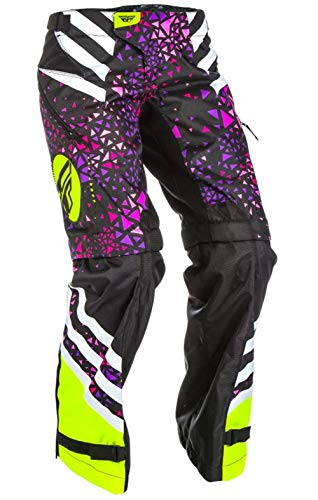 Fly Racing Kinetic Girls Youth Overboot Pants Neon Pink/Hi-Vis (Pink, - Kinetic Overboot