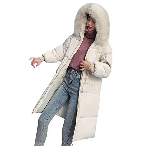Giacche Invernali White Donne Cappotto Morwind giacche Pelliccia Con Cappuccio Capispalla Tasca Lungo Giacca Cappotti Imbottite Donna Cotone Imbottita wgx4qSX