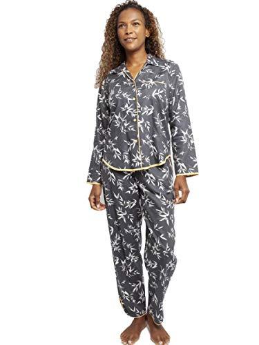 Cyberjammies Damen Pyjama-Set aus grauem Bambusblatt mit Knopfleiste (4347/4348)