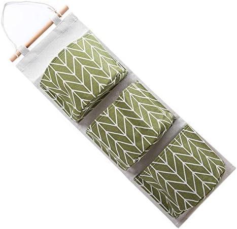 トラべラブ圧縮バッグ 多層生地吊りポケットコットンリネン防水ドア収納袋(カラー:イエロー) トラベルポーチ 出張 旅行 便利グッズ (Color : Green, Size : Free size)