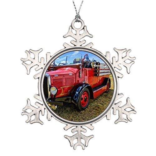 Acove Steam Traction Engine Christmas Personalized Christmas Snowflake Ornaments 3 inch (Christmas Ornament Engine)