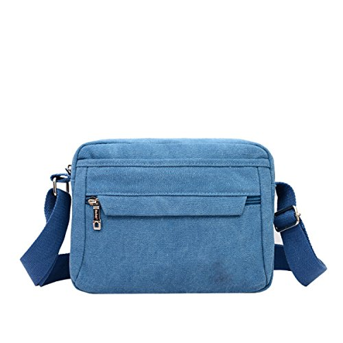 Shoulder Messenger Laidaye Blue purpose Backpack Travel Business Multi Leisure Bag 1CqCwP