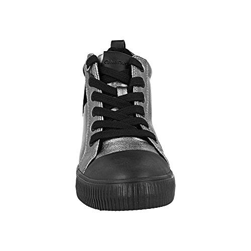 R0646 Jeans Sneakers Klein argento Calvin 39 Donna Nero Z4AEqKgx
