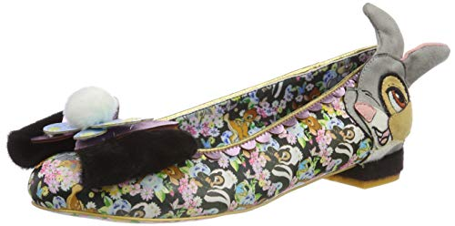 Negro Mujer Friends A Forest Con Cerrada Multi Punta Para Irregular Choice black Bailarinas wz1UU8