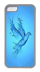 IMARTCASE iPhone 5C Case, Aqua Bird Case for Apple iPhone 5C hard - White