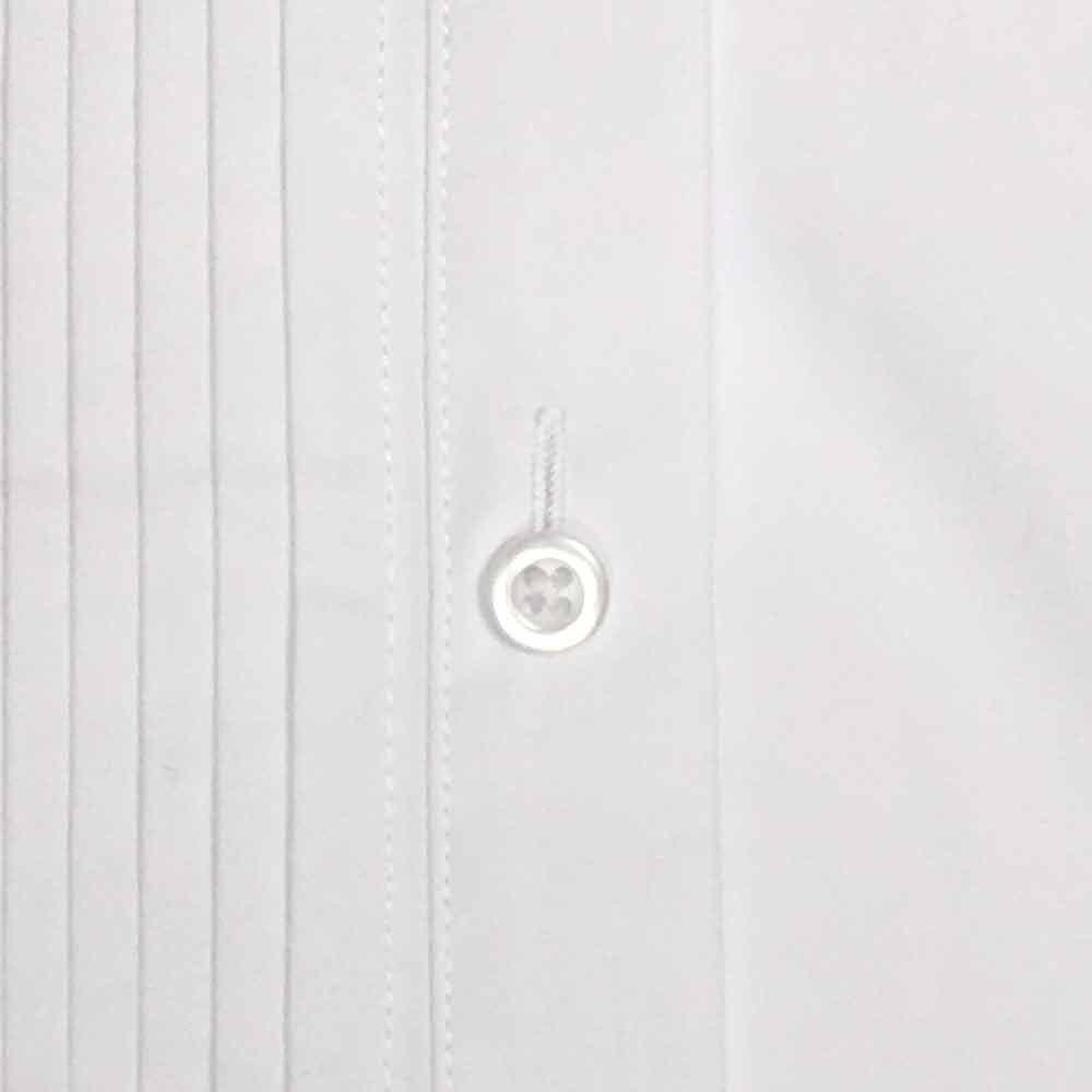 Spencer Js Tuxedo Shirt White Laydown Collar 1//4 Pleat