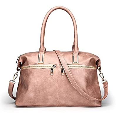 cded6f751f Amazon.com: Luxury Designer Brand Women Postman Handbags Sac A Main Femme De  Marque Luxe Cuir PU Leather Women Hand Bag Tote Bag Color Pink: Shoes