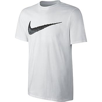 Nike Men's Sportswear Hangtag Swoosh Tee, Whiteblack, Large 0
