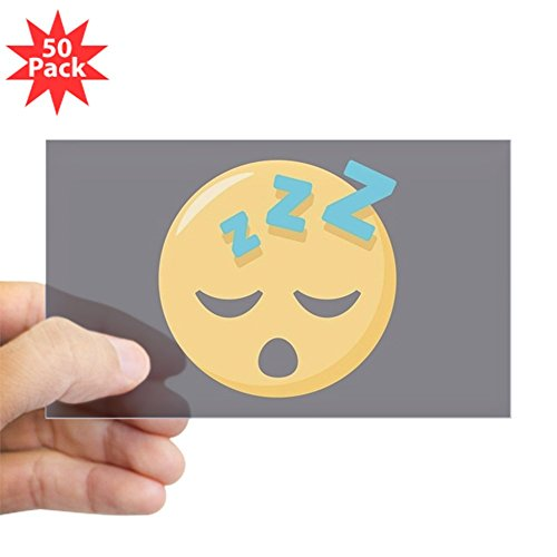 CafePress - Sleeping Emoji - Sticker (Rectangle 50 pk) by CafePress