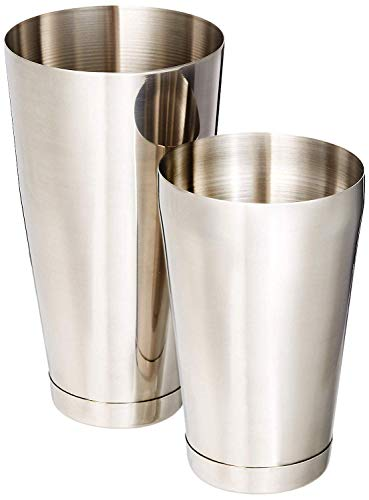 No.1 Stainless Steel Cocktail Boston Shakers 2pc Bar Set, 18oz & 28oz Weighted, Professional Bartender Drink Shaker, Great For Mixed Drinks, Cocktails, Martini, Perfect For Home & Commercial Bar - Shaker 28 Bar Ounce