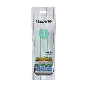 Amazon.com: Brabantia 419683 basura bolsas, 1,6 l, verde ...