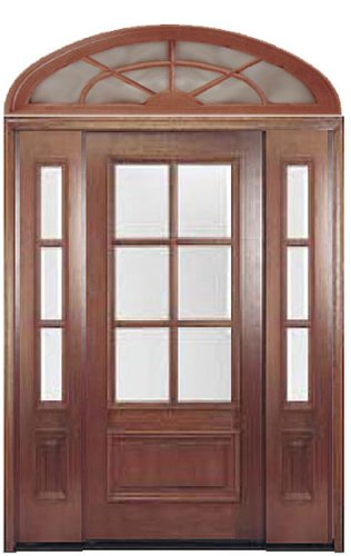 Front Door With Sidelights And Transom Entry Doors Amazon