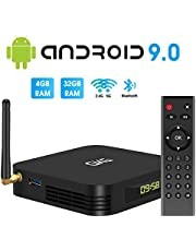 $54 » TV Box Android 9.0, GKG Android TV Box 4GB RAM 32GB ROM Allwinner H6 Quad-core Dual-WiFi 2.4G + 5G Support BT 4.1 USB 3.0 Ethernet 4K 3D Video Media Player[2020 Newest]