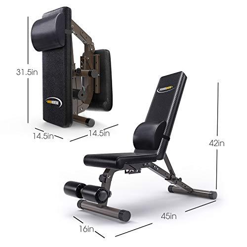 Feierdun Adjustable Workout Bench Foldable Weight Benches