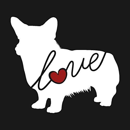 Welsh Corgi Love - Car Window Vinyl Decal Sticker (Script Font)